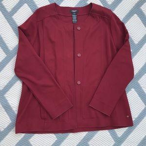 Olsen XL Sz 16 Red Button Up Blazer